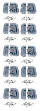 10 Pack Zinc Finish Medium Recessed Butterfly Latch W/Alignment Dowel A3020D