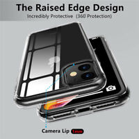 For iPhone 11 Pro Max XS Max XR X 8 6 Shockproof Transparent Silicone Case Cover