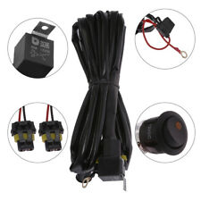 Fog Light Heavy Duty HID LED Wiring Harness 16 Gauge Kit w/ Switch+Fuse