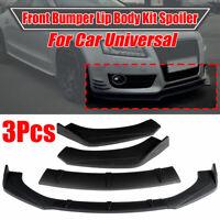 Matte Black Front Bumper Lip Spoiler Splitter For Audi A5 Sline S5 RS5 2009-2016
