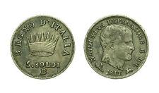 pcc1592_8) Bologna Napoleone I (1805-1814) Re d' Italia 1813 - 5 Soldi - TONED