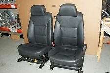 08 09 10 BMW 528i 535i 550i FRONT SEAT PAIR RIGHT AND LEFT BLACK LEATHER