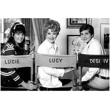 Lucille Ball Posing with Kids Lucie and Desi 8 x 10 Inch Photo