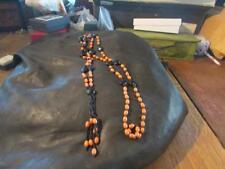 Fabulous Art Deco Origional Flapper French Jet & Bead Tassel Necklace