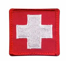 White Cross Patch with Hook Backing Military Uniform Morale Patch 72205 Rothco