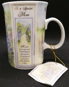 """""""To a Special Mum"""" Mug with verse and flowers"""