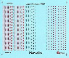 NAVALIS 1/1250 WW2 JAPAN/GERMANY/USSR INSIGNIA DECALS