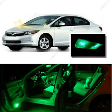 For Honda Civic 2006-2012 Green LED Interior Kit + Green License Light LED