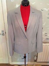 "Chic Debenhams Collection pinstripe smart business blazer, jacket, 12 vgc, 25""L"