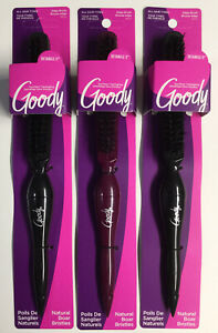 *3 Pk* Goody Natural Boar Bristles Edge Brush With Long Tail For Sectioning