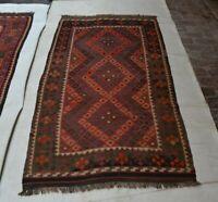 6'11x3'4 Antique Handmade Afghan Kilim Wool Area Rug Kelim Oriental Carpet #1616