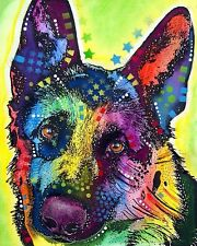 German Shepherd Dean Russo Animal Contemporary Dog Print Poster 8x10