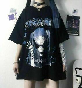 Women Cute Kawaii Gothic Eyepatch GIRL Lolita T-Shirt Harajuku Punk Clothes Tops
