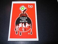 "RON ENGLISH POPAGANDA bp Oil Cover Earth 3.5"" Sticker decal frm poster art print"