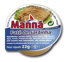 24 x 22g Cans Sardine Spread Manna Portuguese Sardine Pate - Total 528gr/ 17oz