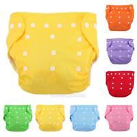 UN3F Reusable Infant Diapers Grid Soft Covers Washable Size Adjustable