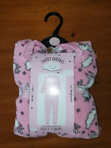 Girls Pyjamas 10/11years sweet dreams sleepware collection Fleece Pyjamas unicor