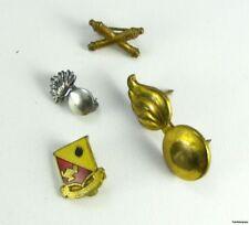 MILITARY DUI LOT Vintage Service Veterans Crest 4 PINS