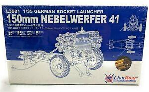 LIONROAR #L3501 GERMAN ROCKET LAUNCHER 150mm NEBELWERFER 41 1/35 SCALE EQ