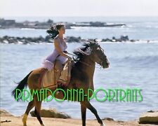LYNDA CARTER 8X10 Lab Photo Color Wonder Woman Riding Horse on Paradise Island
