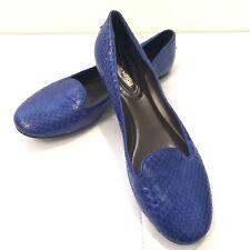 ROBERTO CAVALLI Blue Phyton Effect Loafers Sz 40