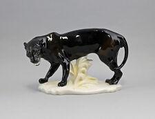 Porzellan Figur Panther Ens H16cm, L24cm 9941294