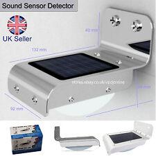 Nuevo Detector de Energía Solar Sensor De Sonido 16 LED Luz al Aire Libre Lámpara de seguridad para el hogar