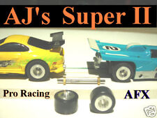 AJ's AFX Super II Slot Car Aluminum Rear Wheels and Tires