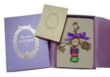 LADUREE Paris Keychain Ring Macaron Eiffel Tower Charm Lilac MARK'S New Ver.