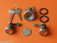 NEW IGNITION BARREL + 2 DOOR LOCKS SUIT TOYOTA LANDCRUISER FJ40 FJ45 FJ55 HJ47