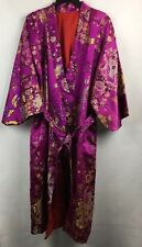 Japanese Kimono Women's Pink Satin Embroidered Lined  V238