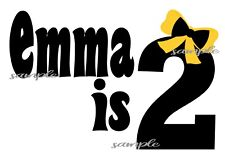 IRON ON TRANSFER - THE WIGGLES BIRTHDAY Emma Yellow Wiggle Personalised 1st 2nd