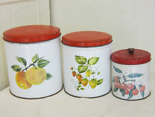 Willow Canisters Vintage Retro Antique Collectable Kitchenalia