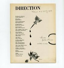 1943 Paul Rand DIRECTION Summer FICTION Wartime POSTERS Jewish Agriculture Socie