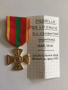 Médaille Croix du combattant volontaire (70-48/5)
