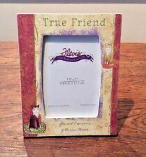 "TRUE FRIEND FLAVIA THE ROMANCE OF LIFE RESIN TABLE FRAME 3.5""x5"" KITTIES CATS"