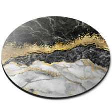 Round Mouse Mat - Marble Gold Stone Effect Art Office Gift #21842