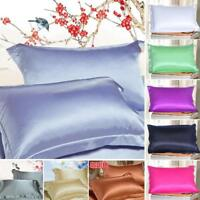 Bedding Silk Like Satin Soft Pillow Cases Bedding Fitted Taies d'oreiller