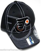 Philadelphia Flyers NHL Reebok Black Draft Hat Cap Stitched Logo Flex Fit L/XL