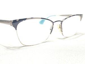 Prada VPR65Q KAD-1O1 Womens Black & Gray Cats Eye Eyeglasses Frames 51/17~140