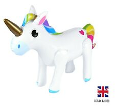 Large Inflatable Rainbow Unicorn Blow up Toy Birthday Party Decoration 53 Cm UK