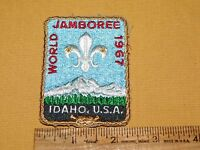 VINTAGE BSA BOY SCOUTS OF AMERICA PATCH 1967 WORLD JAMBOREE IDAHO USA