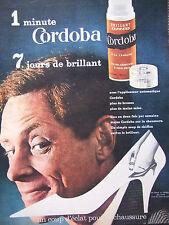 PUBLICITÉ DE PRESSE 1962 CORDOBA BRILLANT EXPRESS POUR CHAUSURES - ADVERTISING