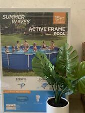 New listing Summer Waves 15ft Active Metal Frame Pool with 600Gph Filter Pump In Hand