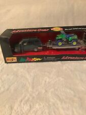 VINTAGE MAISTO Vehicle W/ Trailer And 4 Wheeler TURBO PULL BACK  RACE TEAM