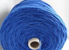 1,020g CONE OF DEEP BLUE ARAN 100% PURE KNITTING WOOL (SV-1646)