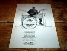 """PHILLY"" JOE JONES (GRETSCH DRUMS ) 1964 Vintage U.S. magazine PROMO Ad NM-"