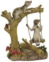 Gardenwize Meerkat Swing Gnome Meergnome Garden Decoration Ornament Statue
