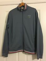 Lacoste Track Jacket Mens Vintage Rare Gray And Orange Stripe Size 7 Large Coat