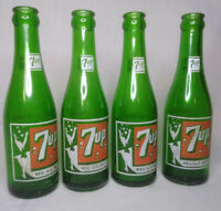 "Vintage  ""Bubble Girl"" 7-Up Soda Bottle Green Soda Pop 7oz"